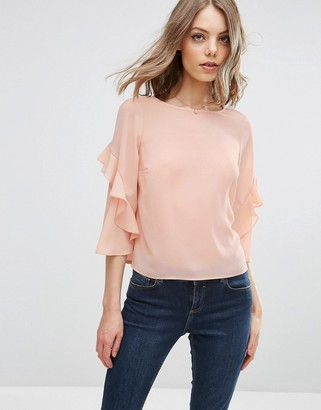 ASOS Ruffle Sleeve Tee $46 thestylecure.com