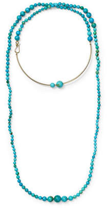 Ippolita Nova 18k Gold & Matrix Turquoise Long Wrap Wire Necklace