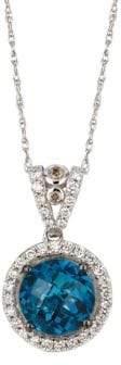 LeVian Le Vian Chocolatier Diamond, Topaz & 14K White Gold Pendant Necklace