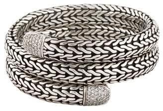 John Hardy Diamond Chain Double Coil Bracelet