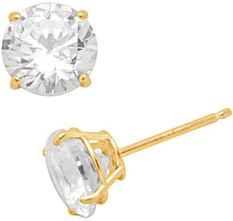 Swarovski Renaissance Collection 10k Gold 3-ct. T.W. Stud Earrings - Made with Zirconia