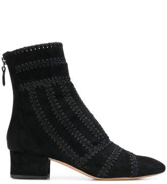 Alexandre Birman stitch detail ankle boots