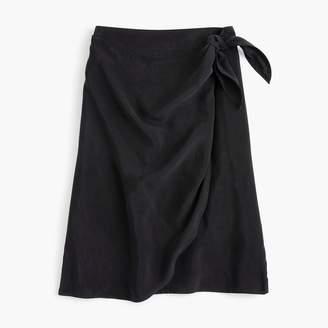 J.Crew Wrap skirt in Japanese cupro
