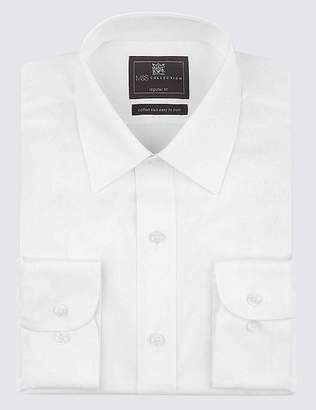 Marks and Spencer 2in Shorter Cotton Rich Regular Fit Shirt