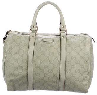 Pre Owned At Therealreal Gucci Guccissima Joy Boston Bag