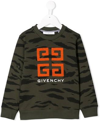 Givenchy Kids logo embroidered sweatshirt