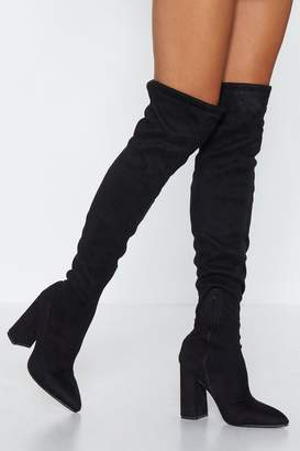 Nasty Gal Raise the Stakes Thigh-High Boot
