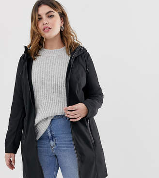 Junarose hooded longline coat