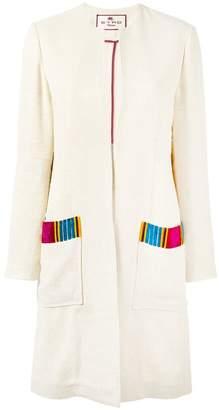 Etro Patch pocket open coat