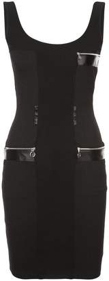 Paco Rabanne zip-detail fitted dress