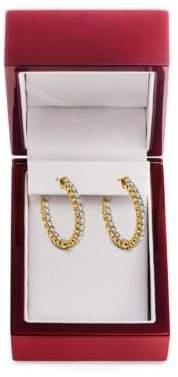 Lord & Taylor 14K Yellow Gold Hoop Earrings