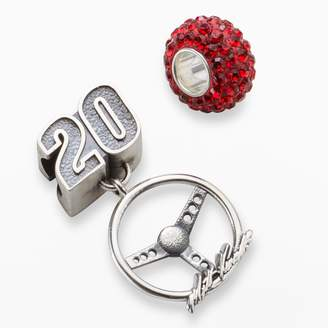 "Insignia Collection NASCAR Matt Kenseth Sterling Silver ""20"" Steering Wheel Charm & Crystal Bead Set"