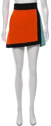 Fausto Puglisi Silk Colorblock Skirt