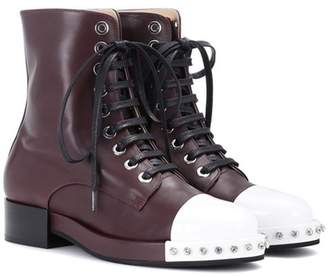 N°21 Leather ankle boots