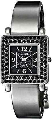 XOXO Women's XO1018 Dial Gun Metal Bangle Watch