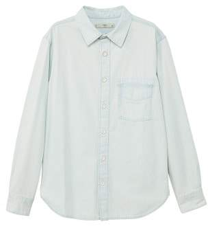 Mango man MANGO MAN Light wash regular-fit denim shirt