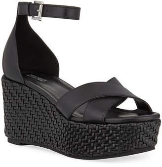 MICHAEL Michael Kors Desiree Woven Wedge Sandals