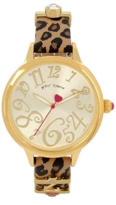 Betsey Johnson Women's Leopard Print Charm Watch, 38mm