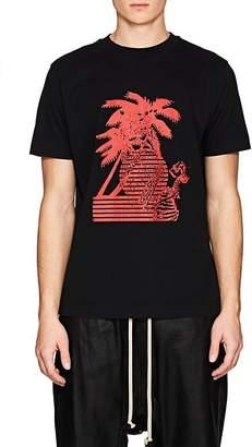 Palm Angels Men's Skeleton- & Palm-Tree-Print Cotton T-Shirt