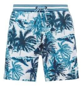 BOSS Hugo Swim shorts palm print in quick-drying fabric XXL Open Green