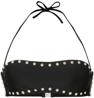 Moschino stud-embellished bikini top