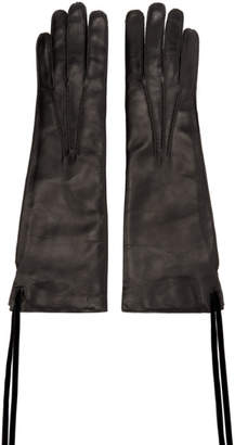Ann Demeulemeester Black Leather Joris Gloves