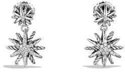 David Yurman Starburst Double-Drop Earrings With Diamonds