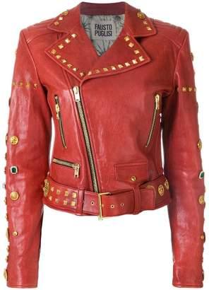 Fausto Puglisi studded biker jacket