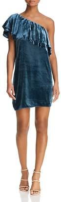 WAYF Dillion One-Shoulder Velvet Dress - 100% Exclusive