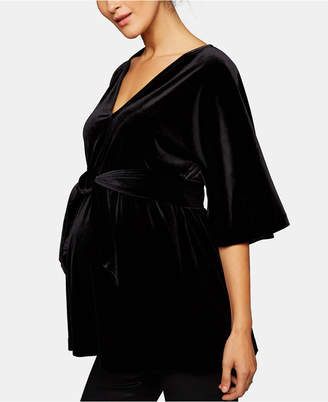 A Pea in the Pod Maternity Velvet Babydoll Blouse