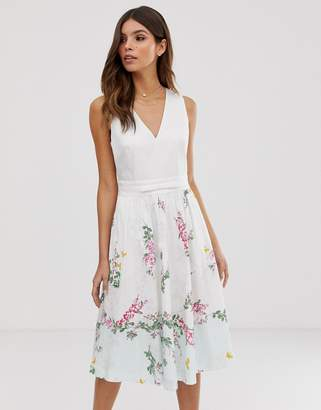 Ted Baker Reyyne printed midi dress