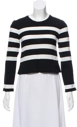 Calvin Klein Collection Semi-Sheer Striped Top