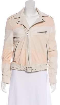 IRO Leather Long Sleeve Jacket