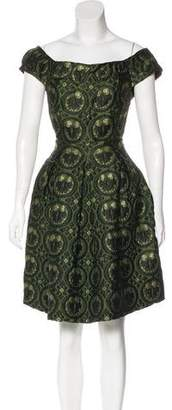 Miu Miu Jacquard A-Line Dress