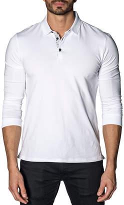 Jared Lang Long-Sleeve Knit Polo Shirt