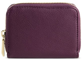 Merona Women's Faux Leather Wallet with Zip Closure Burgundy - Merona $9.99 thestylecure.com
