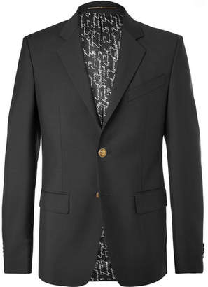 Givenchy Black Slim-Fit Wool And Mohair-Blend Blazer