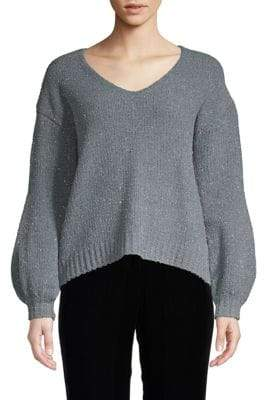 High-Low Sparkle Sweater