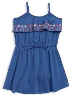Petit Lem Little Girl's Embroidered Floral Dress