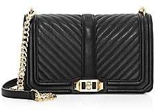 Rebecca Minkoff Women's Love Chevron Quilted Leather Crossbody Bag