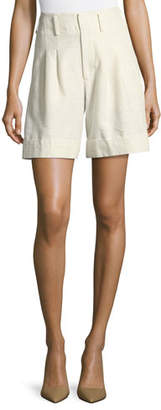Co High-Waist Cuffed Shorts