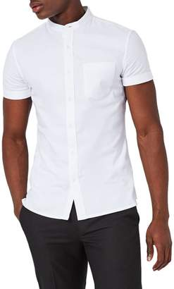Topman Stand Collar Oxford Shirt