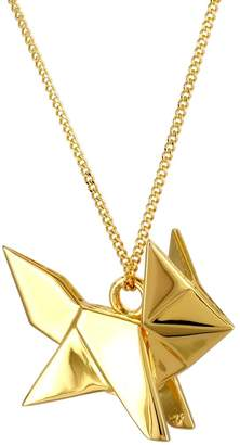 Origami Jewellery Fox Necklace Gold