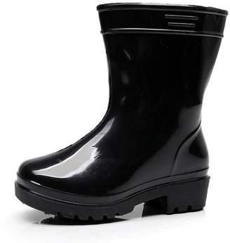 Showking Kids Rubber Rain Boots,Waterproof Child Solid Rubber Infant Baby Rain Boots Children Rain Shoes