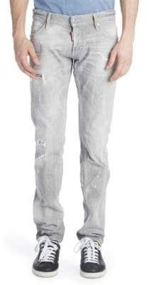 Viktor & Rolf Slim Duck Wash Distressed Jeans