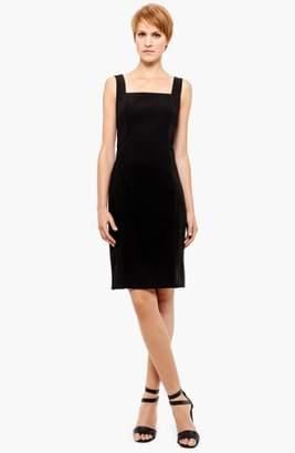 Akris Punto Square Neck Wool Sheath Dress