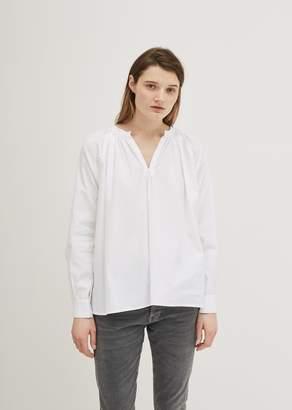 6397 Cotton Peasant Blouse White
