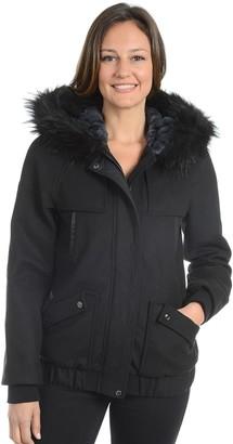 Fleet Street Women's Hooded Wool Blend Jacket