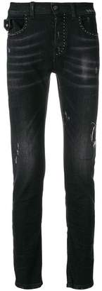 Frankie Morello jewelled slim jeans