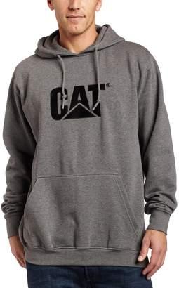 Caterpillar Men's Big-Tall Trademark Hooded Sweatshirt, Dark Heather Grey